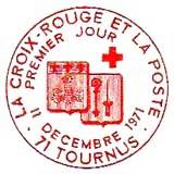 Oblitération 1er jour à Tournus et Royan le 11 décembre 1971