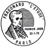 Oblitération 1er jour à Paris le 22 janvier 1972