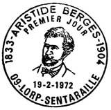 Oblitération 1er jour à Lorp-Sentaraille le 19 février 1972