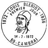 Oblitération 1er jour à Cambrai le 9 juillet 1972