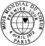 Oblitération 1er jour à Paris le 8 avril 1972
