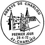 Oblitération 1er jour à Charlieu le 29 avril 1972