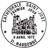 Oblitération 1er jour à Narbonne le 8 avril 1972