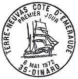 Oblitération 1er jour à Dinard le 6 mai 1972