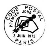 Oblitération 1er jour à Paris le 3 juin 1972
