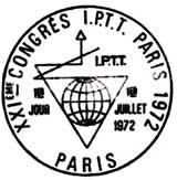 Oblitération 1er jour à Paris le 1 juillet 1972