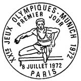 Oblitération 1er jour à Paris le 8 juillet 1972