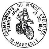 Oblitération 1er jour à Gap et Marseille le 22 juillet 1972