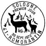 Oblitération 1er jour à Romorantin le 30 septembre 1972
