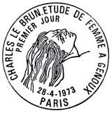 Oblitération 1er jour à Paris le 28 avril 1973