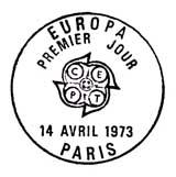 Oblitération 1er jour à Paris et Strasbourg le 14 avril 1973