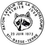 Oblitération 1er jour à Basse-terre le 23 juin 1973