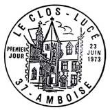 Oblitération 1er jour à Amboise le 23 juin 1973