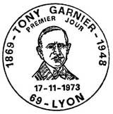 Oblitération 1er jour à Lyon le 17 novembre 1973