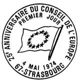 Oblitération 1er jour à Strasbourg le 4 mai 1974