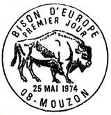 Oblitération 1er jour à Mouzon le 22 mai 1974
