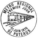Oblitération 1er jour à Puteaux et Paris le 21 juin 1975