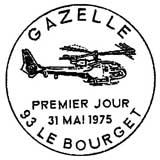 Oblitération 1er jour à Le Bourget le 31 mai 1975