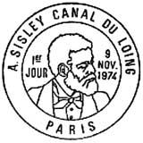 Oblitération 1er jour à Paris le 9 novembre 1974