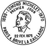 Oblitération 1er jour à Paris et Brives le 22 février 1975