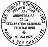Oblitération 1er jour à Paris le 10 mai 1975