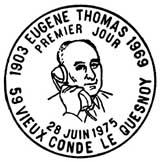 Oblitération 1er jour à Vieux-Condé-le-Quesnoy le 28 juin 1975