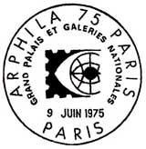 Oblitération 1er jour à Paris le 9 juin 1975