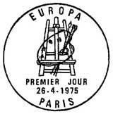 Oblitération 1er jour à Paris et Strasbourg le 26 avril 1975