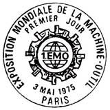 Oblitération 1er jour à Paris le 3 mai 1975