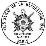 Oblitération 1er jour à Paris le 24 mai 1975