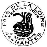Oblitération 1er jour à Nantes le 6 septembre 1975