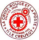 Oblitération 1er jour à Le Creusot et Fort-de-France le 29 novembre 1975
