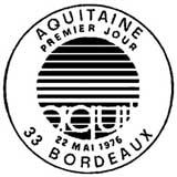 Oblitération 1er jour à Bordeaux le 22 mai 1976