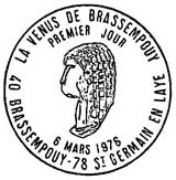 Oblitération 1er jour à Saint-Germain-en-Laye le 6 mars 1976