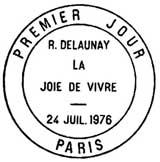 Oblitération 1er jour à Paris le 24 juillet 1976