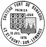 Oblitération 1er jour à Saint-Flour-sur-Lémance le 10 juillet 1976