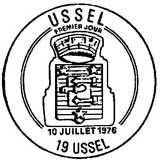 Oblitération 1er jour à Ussel le 10 juillet 1976