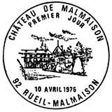 Oblitération 1er jour à Rueil-Malmaison le 10 avril 1976