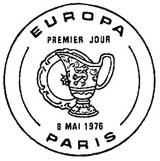 Oblitération 1er jour à Paris et Strasbourg le 8 mai 1976