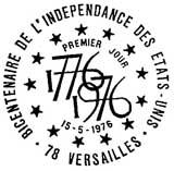 Oblitération 1er jour à Versailles le 15 mai 1976