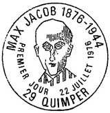 Oblitération 1er jour à Quimper le 22 juillet 1976
