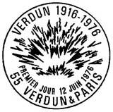 Oblitération 1er jour à Verdun le 12 juin 1976