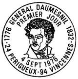 Oblitération 1er jour à Perigueux et Vincennes le 4 septembre 1976