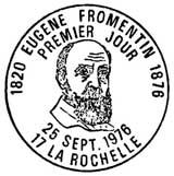 Oblitération 1er jour à La Rochelle le 25 septembre 1976