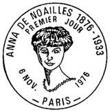 Oblitération 1er jour à Paris le 6 novembre 1976
