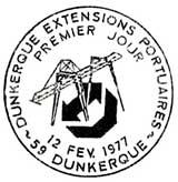 Oblitération 1er jour à Dunkerque le 12 février 1977