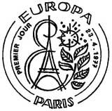 Oblitération 1er jour à Paris et Strasbourg le 23 avril 1977