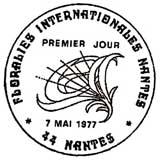 Oblitération 1er jour à Nantes le 7 mai 1977
