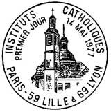 Oblitération 1er jour à Paris, Lille, Lyon le 14 mai 1977