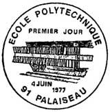Oblitération 1er jour à Palaiseau le 4 juin 1977